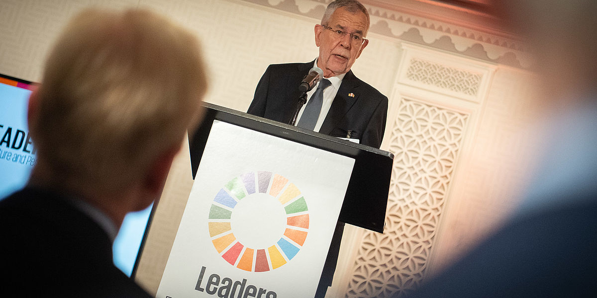 Bundespräsident bei Leaders for Nature and People Event, New York